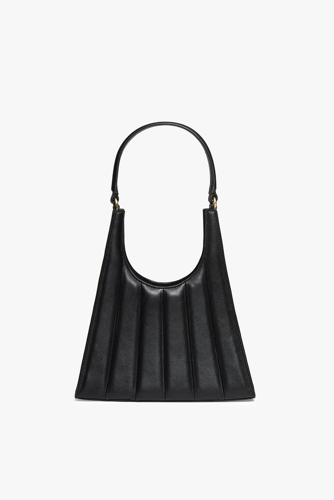 Staud STRIPED REY BAG | BLACK