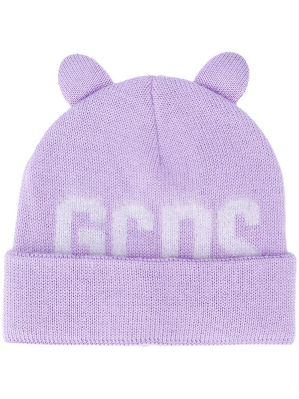 Gcds logo print beanie in purple