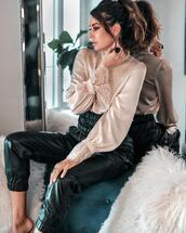 fashionedchic,blogger,blouse,pants,jewels