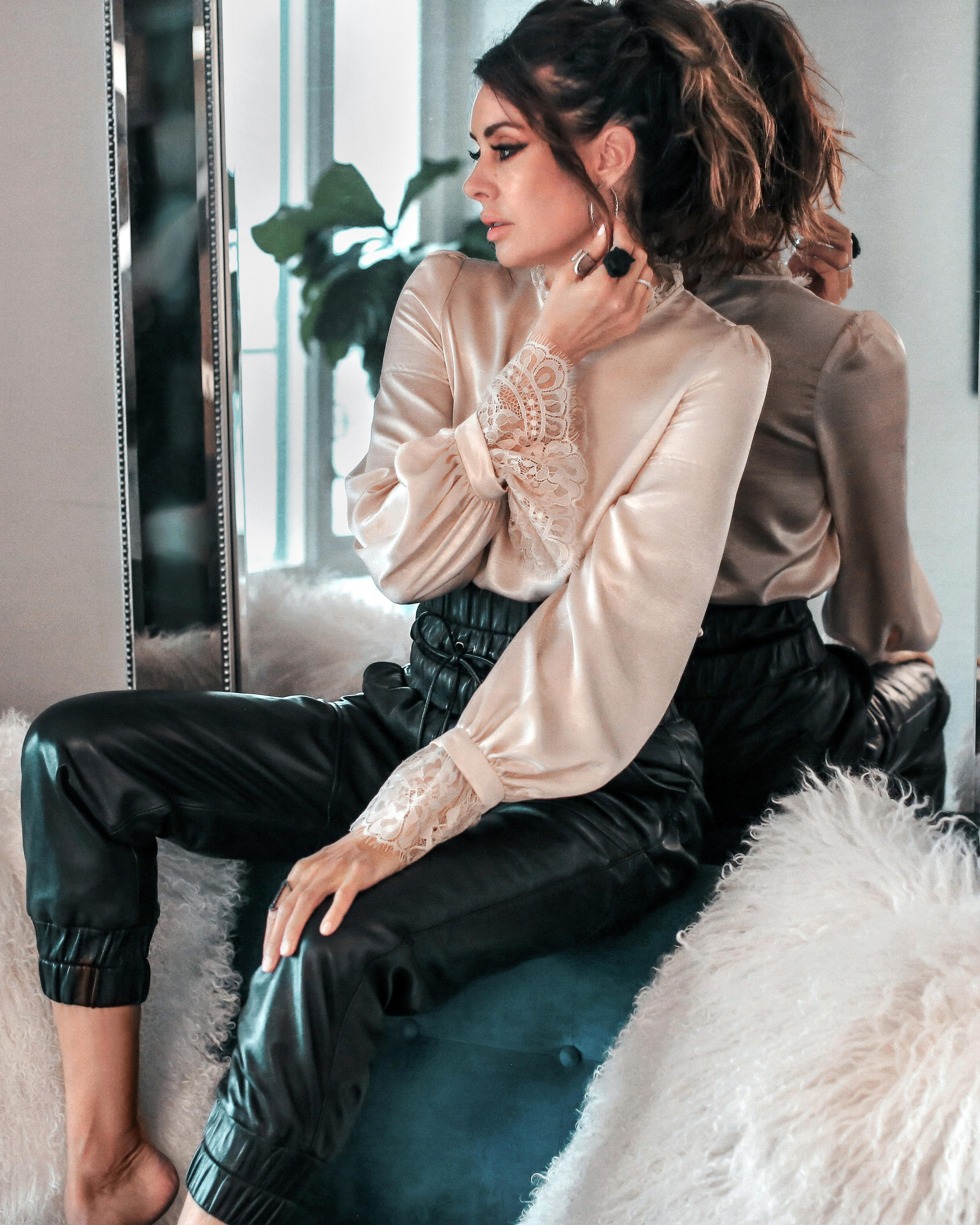 fashionedchic blogger blouse pants jewels