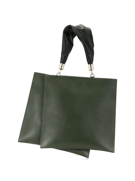 The Sant layered tote bag in green