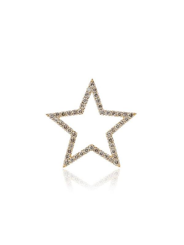 Rosa de la Cruz 18k yellow gold diamond star pendant in metallic