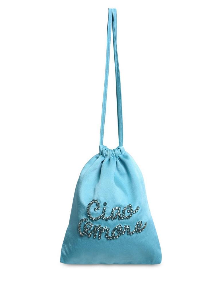 GIADA BENINCASA Embellished Satin Pouch in blue