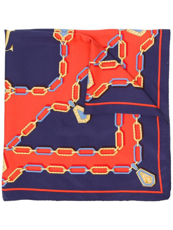 Cartier pre-owned graphic print scarf in blue