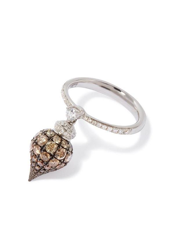 Annoushka 18kt white gold Touch Wood diamond ring