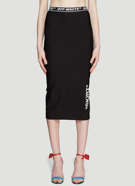 Off-White High-waisted Pencil Skirt size IT - 40 in black