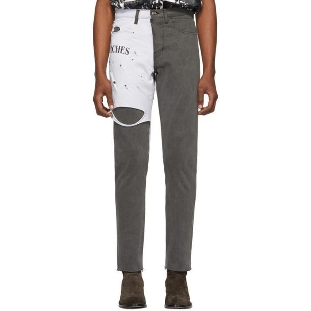 Enfants Riches Déprimés Black & White Logo T-Shirt Jeans