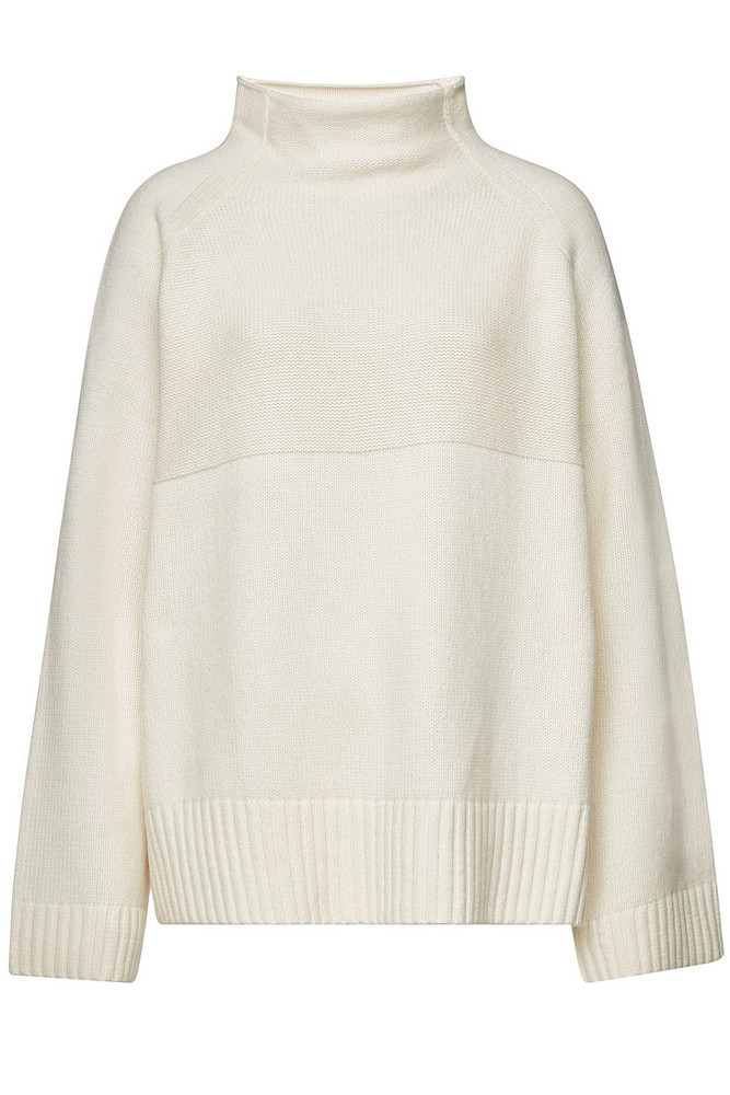 By Malene Birger Brianne Pullover with Merino Wool  in white