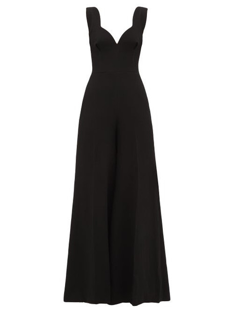 Emilia Wickstead - Rosabel Pebbled Crepe Jumpsuit - Womens - Black