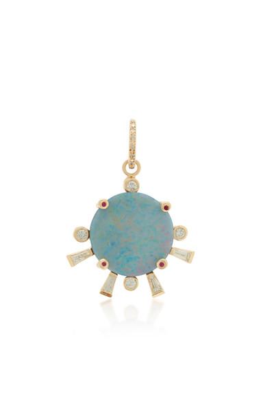 SCOSHA Sunset 14K Gold And Multi-Stone Single Earring in blue
