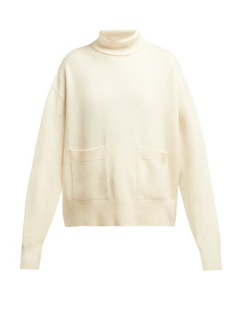 Raey - Pocket Front Roll Neck Cashmere Sweater - Womens - Ivory