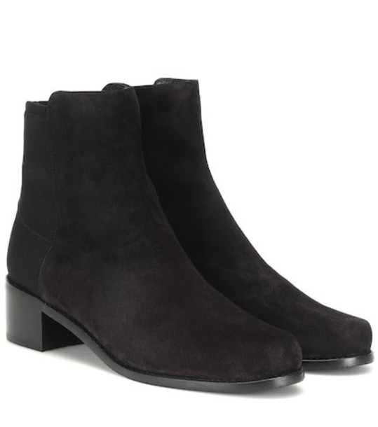 Stuart Weitzman Easy On Reserve suede ankle boots in black