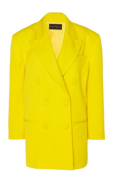 Dundas Oversized Double Breasted Blazer in yellow