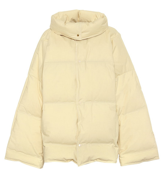 Bottega Veneta Cotton poplin down jacket in white