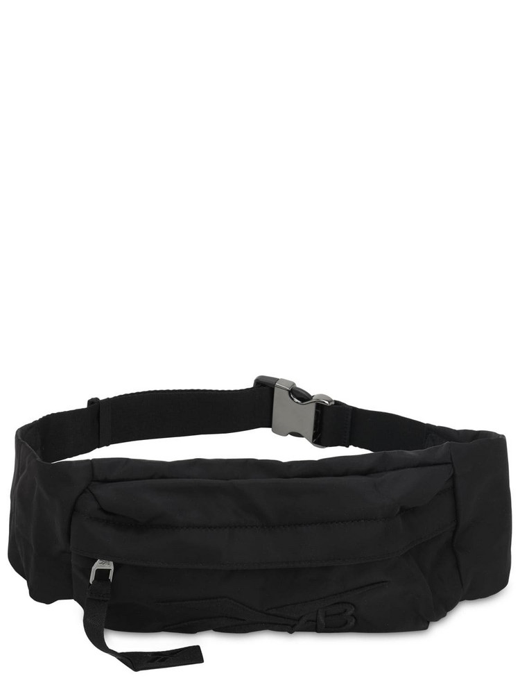 REEBOK X VICTORIA BECKHAM Logo Embroidered Nylon Belt Bag in black