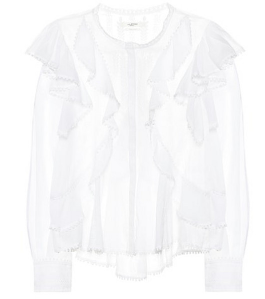 Isabel Marant, Étoile Alea embroidered cotton blouse in white
