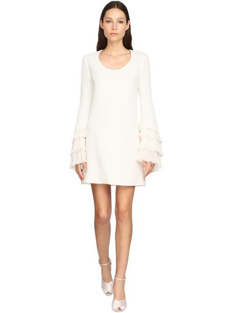GIAMBATTISTA VALLI Light Cady Mini Dress in ivory