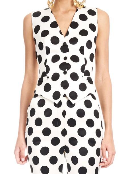 Dolce & Gabbana Vest in black / white
