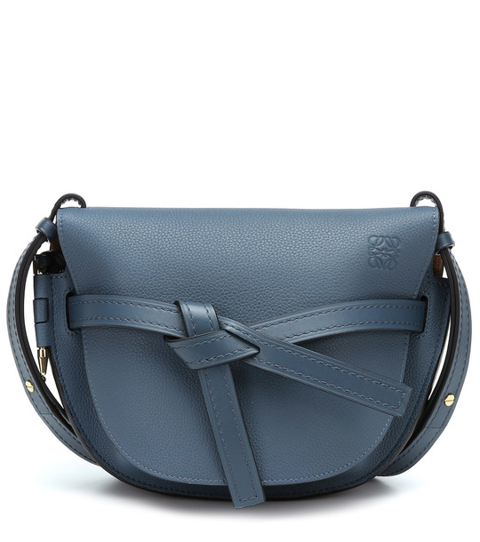 Loewe Gate Small leather shoulder bag in blue