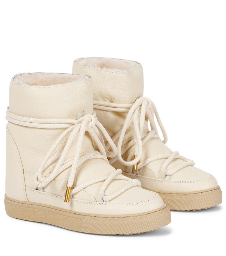 INUIKII Leather ankle boots in beige