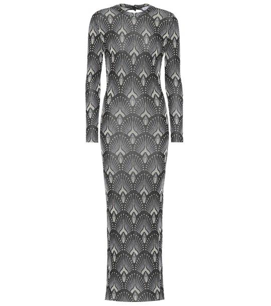 Paco Rabanne Metallic stretch-knit dress