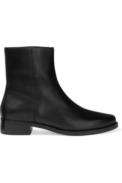 LEGRES - 01 Leather Ankle Boots - Black