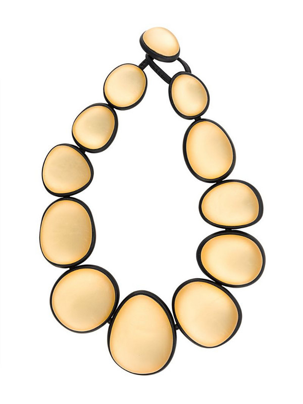 Monies two-tone oversized bead necklace in gold