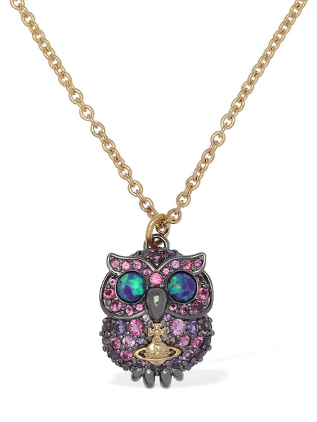 VIVIENNE WESTWOOD Louisette Pendant Necklace in gold / multi
