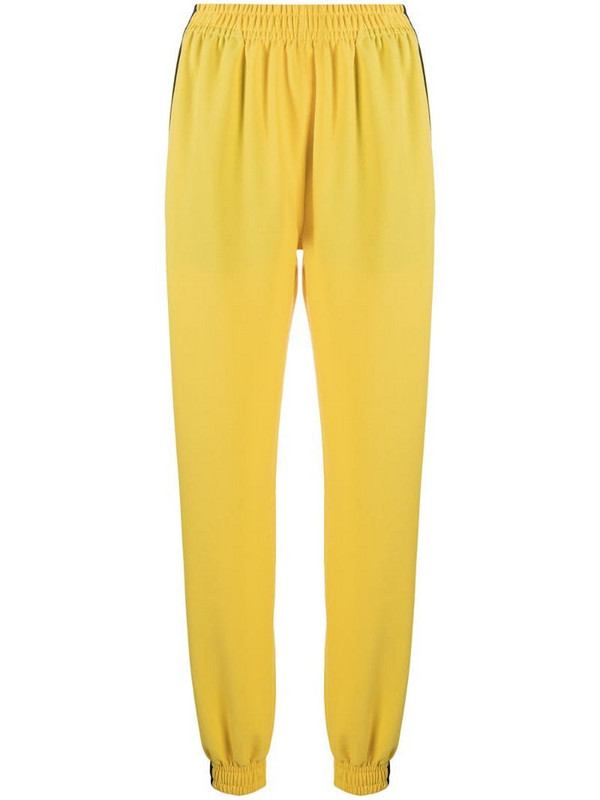 Styland side stripe detail track pants in yellow