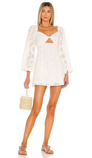 MAJORELLE Lizzy Mini Dress in Ivory in white