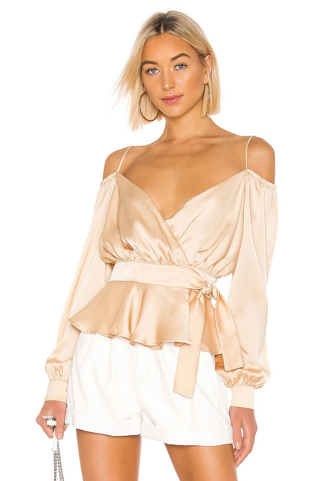 THE JETSET DIARIES Here Comes The Sun Top in tan