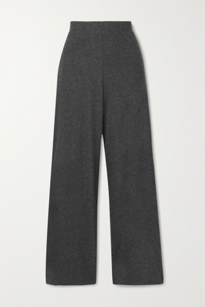 LESET - Stretch-jersey Wide-leg Pants - Charcoal