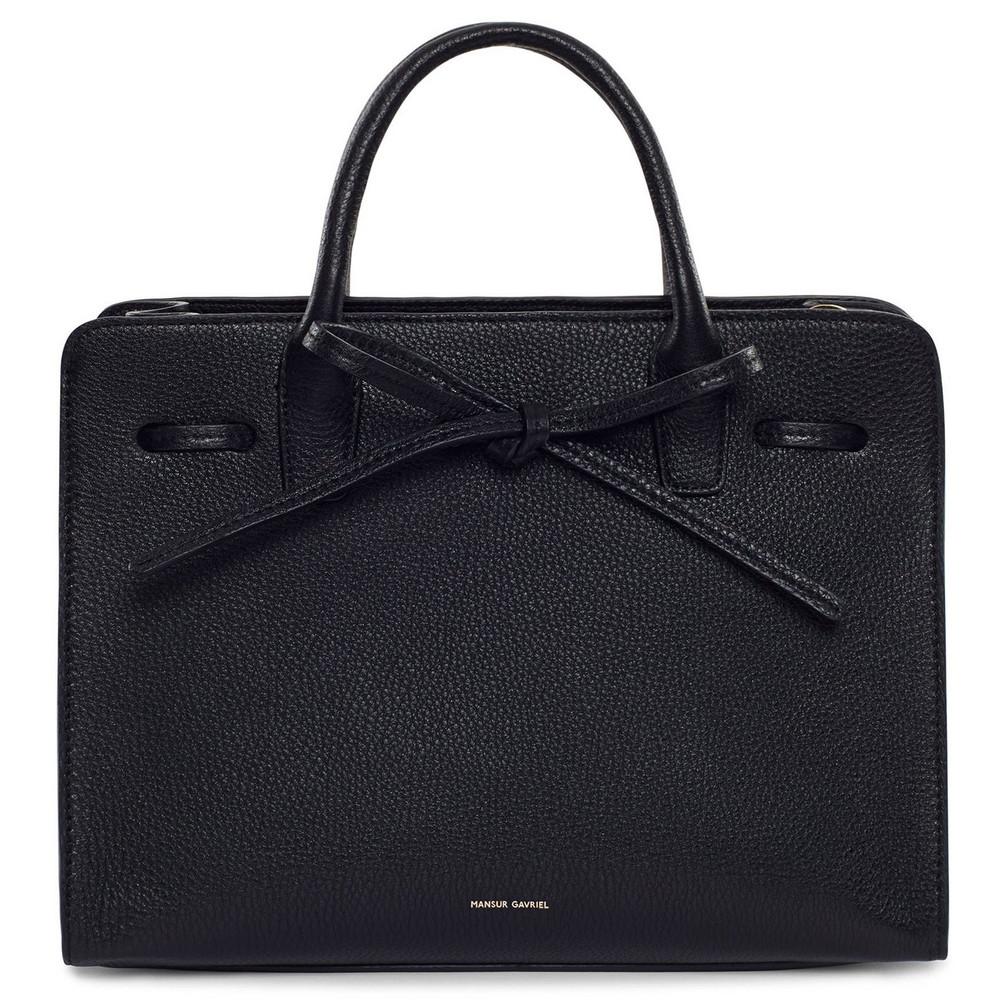 Mansur Gavriel Tumble Mini Sun Bag - Black