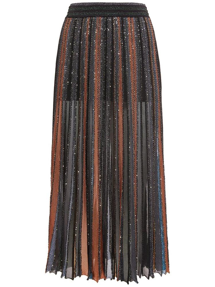MISSONI Lurex Knit Striped Midi Skirt