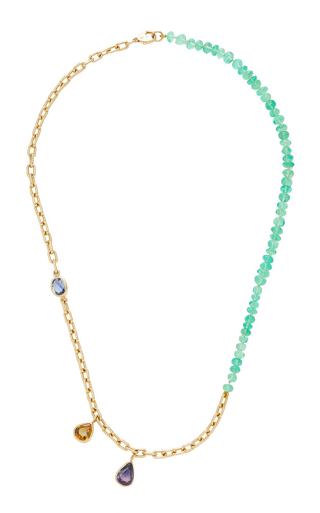 Objet-a Blue Hour 18K Gold, Sapphire And Emerald Necklace in multi