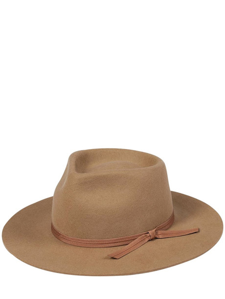 LACK OF COLOR Felted Wool Fedora Hat in brown