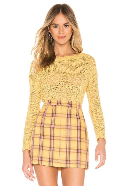 BB Dakota Nice Knits Sweater in yellow