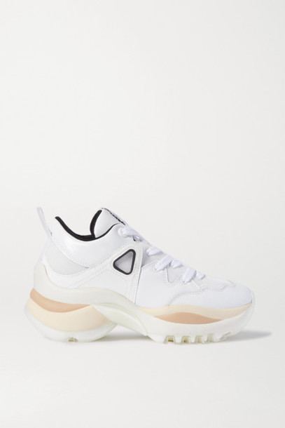 See By Chloé See By Chloé - Mesh And Leather Sneakers - White