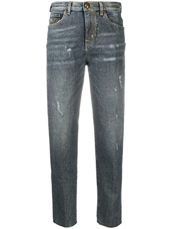 Jacob Cohen distressed straight-leg jeans in blue