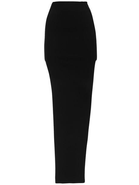 RICK OWENS Stretch Knit Pencil Skirt in black