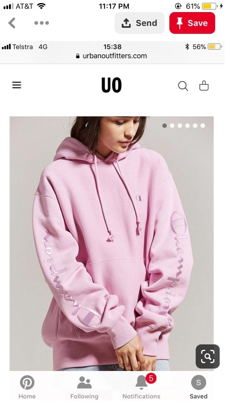 jacket pink champion hoodie