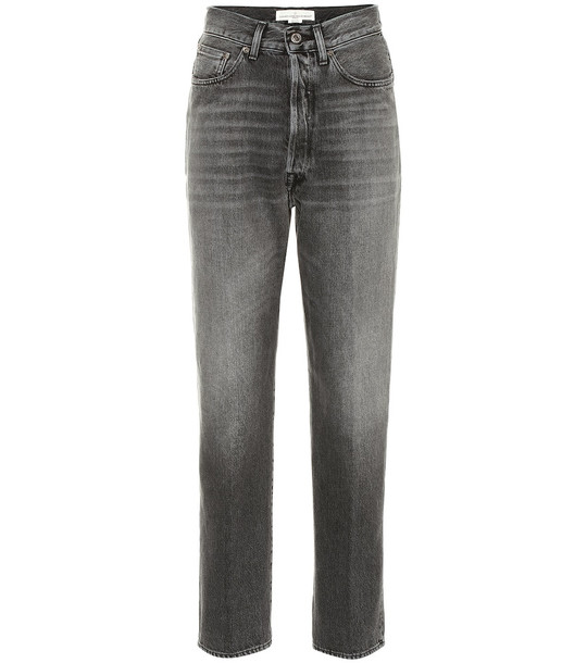 Golden Goose Judy high-rise cropped jeans in grey