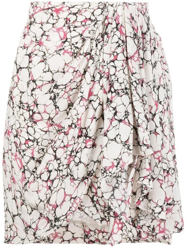 Isabel Marant Ixori printed skirt in white