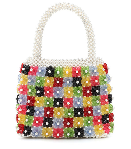 Shrimps Avery floral beaded tote