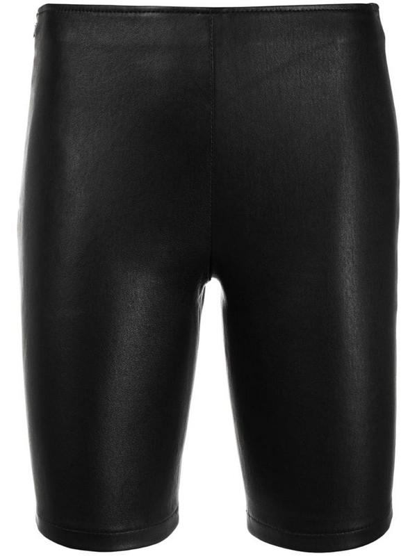 Manokhi zip-up biker jacket in black