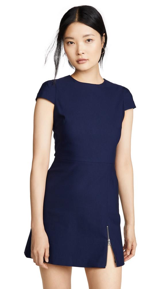 alice + olivia alice + olivia Maya Short Sleeve Asymmetrical Zip Mini Dress