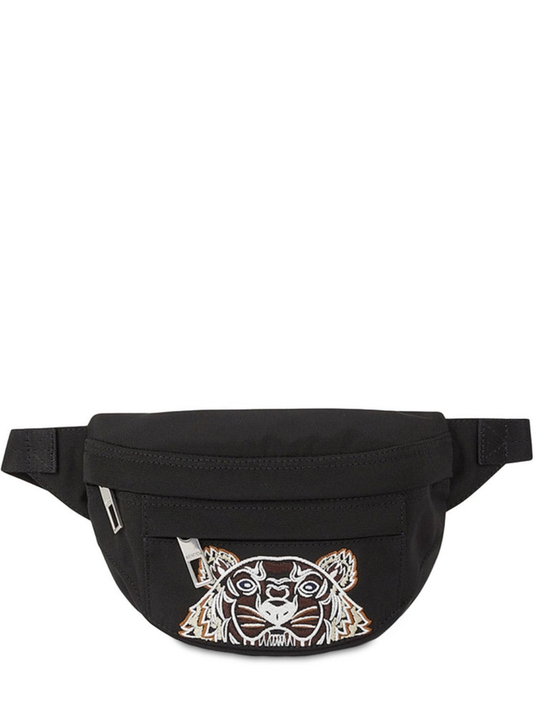KENZO Kampus Embroidered Nylon Belt Bag in black