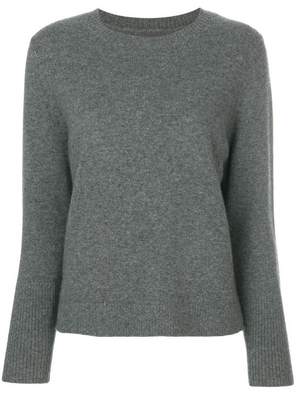 Chinti and Parker fine knit sweater in grey