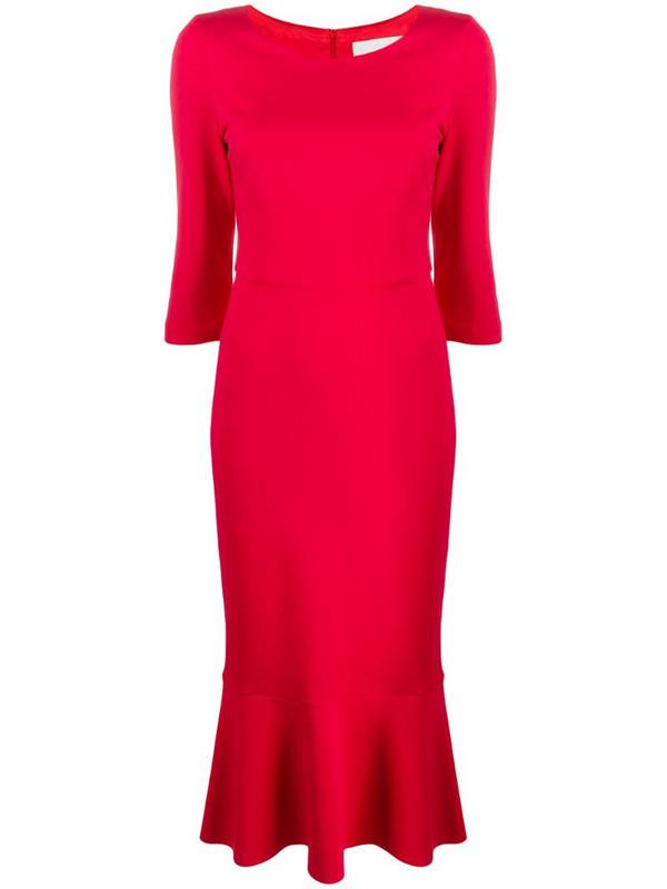Goat Kristina peplum-hem midi dress in red