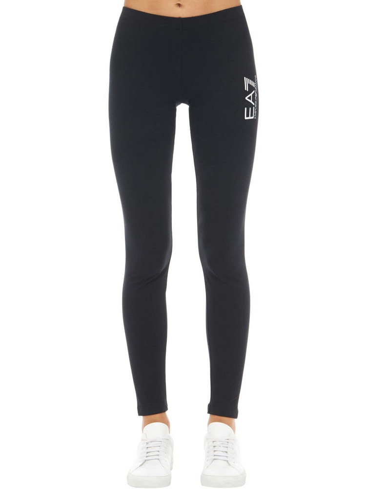 EA7 EMPORIO ARMANI Train Stretch Cotton Leggings in black